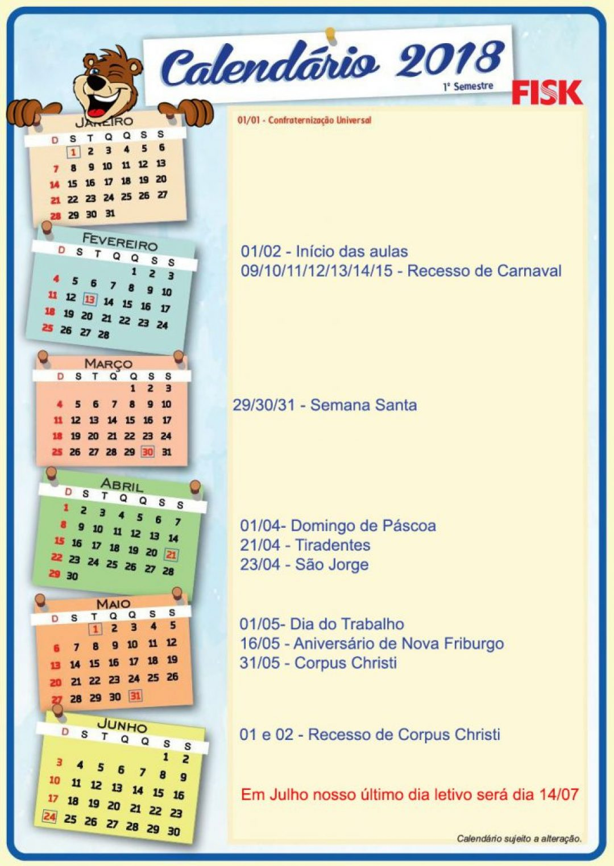 Calendário de atividades